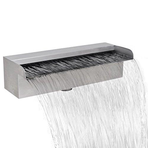 "Festnight 11.8"" Garden Waterfall Pool Fountain Indoor / Outdoor Stainless Steel"