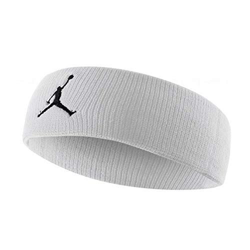 Nike Jumpman Headband, Fascia Jordan Unisex Adulto, Multicolore (Bianco/Nero), Taglia Unica