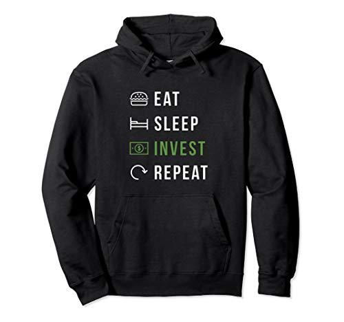 Eat Sleep Invest Repeat Aktien und Kryptowährung Trader Pullover Hoodie