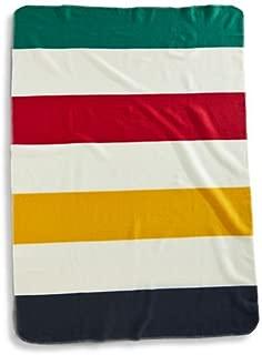 Hudson's Bay Fleece Throw Blanket Chunky Stripe