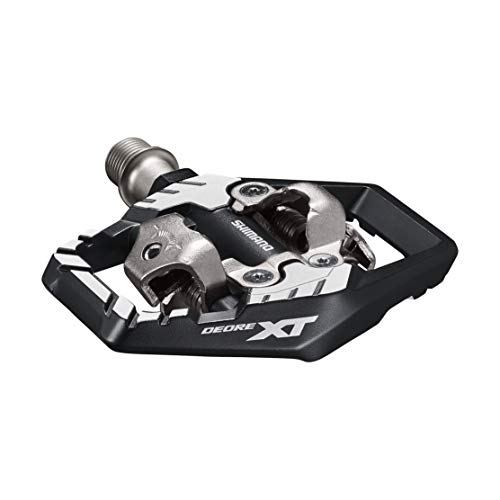 SHIMANO DEORE XT PD-M8120 SPD Pedal, Without Reflector, Includes Cleat, Black, One Size