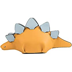 1. MILATA Dinosaur Shaped Stegosaurus Crossbody Pu Leather Purse