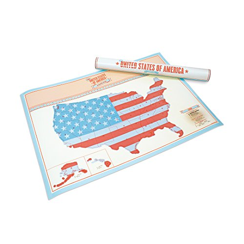 SCRATCH MAP of USA Large 23.4x32.5in Personalized Map with US States and Major Cities | Perfect Travel Gift to Track Your Adventures | Scratch off Map SOLD BY LUCKIES - INVENTORS OF THE SCRATCH MAP CONCEPT