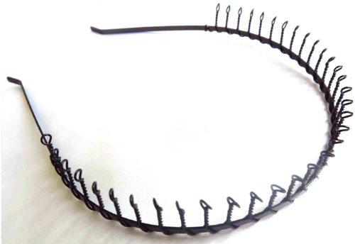 Black metal Twisted Wire Comb Headband