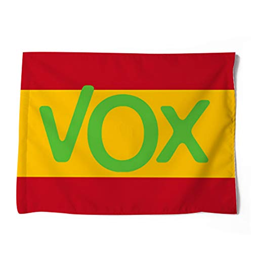 FTC Bandera Poliester España VOX. Medidas: 100 x 70 cm. por una Cara.