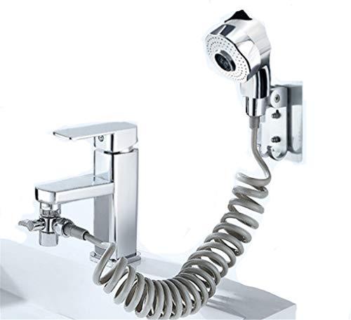 Bathroom Sink Faucet Sprayer Set set,Set di spruzzatori per rubinetto del lavandino del bagno,connessione per toccare la doccia portatile Kit 2 modalità Regolabile