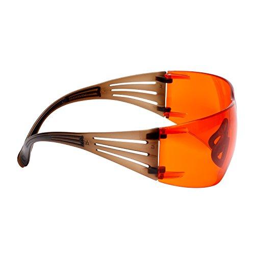 3M SecureFit 400 Gafas de seguridad, marco Negro/Marrón, anti-empañamiento Scotchgard, ocular marrón, SF405SGAF-BLA EU