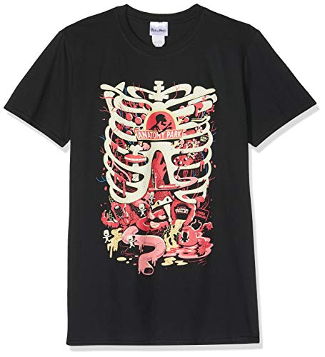 Cid Rick and Morty-Anatomy Park T-Shirt, Noir (Nero), X-Large Homme