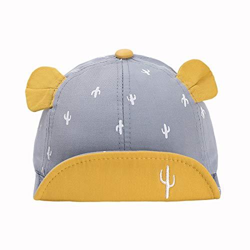Sombreros para niños Primavera y Verano Nueva versión Coreana de algodón Puro Lindo Cactus Gorras de ala Suave Protector Solar Sombreros para bebés