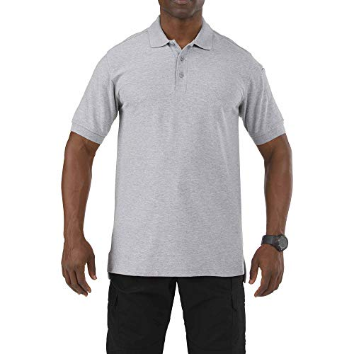 5.11 Tactical Series Utility Polo Short Sleeve Homme, Heather Grey, FR (Taille Fabricant : 2XL)