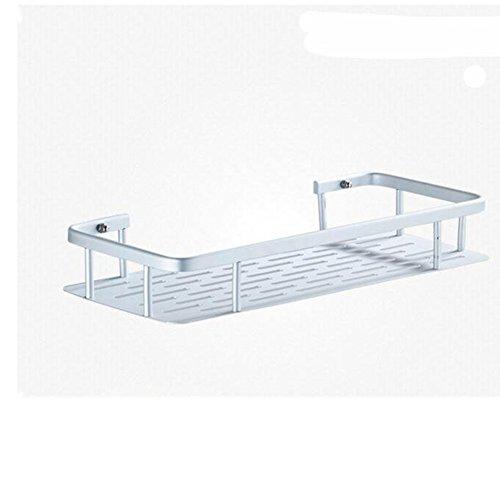 No Drilling, Adhesive Bathroom Shelves,HomesYoo Shower Caddy Storage Basket Shelf Rack Organiser for Kitchen, Bedroom,Bathroom (1 Tier)
