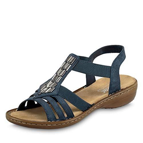 Rieker Women's 60800-14 Closed Toe Sandals, Blue (Baltik 14), 6.5 UK