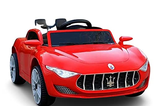 Shivay Battery Operated Electric Ride on Car for Kids Battery, Music, and Lights Red Car (9688)