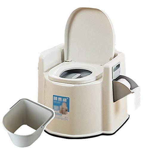 Pratico Comodo WC da Campeggio WC Portatile con Cestino Lavabile e Porta Carta igienica, Campeggio, Escursionismo, Picnic, Ospedale, Esterno (Dimensioni: con Un barile Solido) Facile da Usare