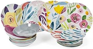 Juego de 6 platos de postre de porcelana Villa DEste Home Tivoli 2193040
