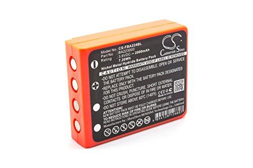vhbw NiMH Akku 2000mAh (3.6V) für Kran-Fernbedienung Remote Control wie HBC BA223030, FUB6