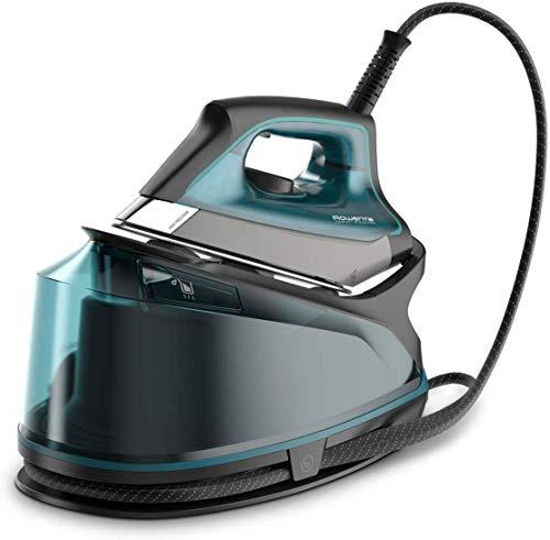 Rowenta Compact Steam Pro - Centro de planchado, 6.3 bares de presión, golpe de vapor de 325 g/minuto, suela antiarañazos deslizante, sistema eco (Reacondicionado)