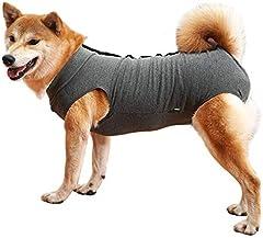 Dotoner Chaleco de recuperación para Perros y Gatos, Protector de heridas Abdominales, Ropa quirúrgica médica para Cachorros(Gris,M)
