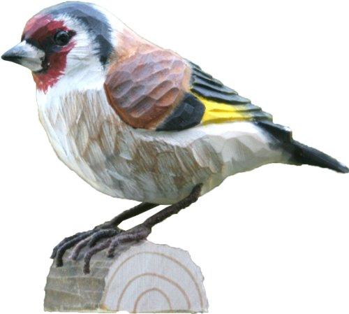 Wildlife Garden Dekovogel Holzvogel - Stieglitz - Handgeschnitzt