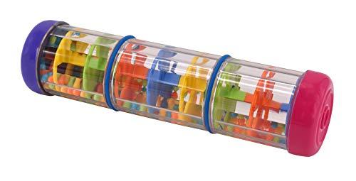 Musik für Kleine Regenprassel Musikspielzeug für Kleinkinder und Babys ab 1 Jahr - Länge 21cm auch geeignet als Rassel, bunt
