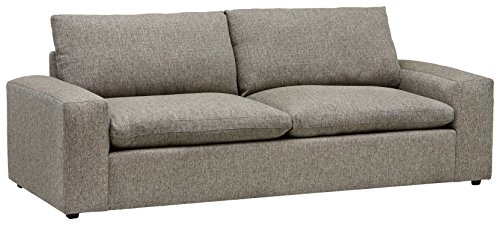 Amazon Brand – Stone & Beam Hoffman Down-Filled Performance Fabric Sofa Couch, 97'W, Grey Tweed
