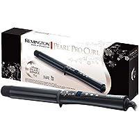 Remington CI9532 Pearl  - Rizador de pelo, Cerámica con Perla, Punta Fría, Digital, Negro, Pinza de 32 mm