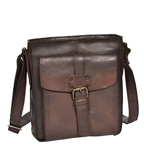 Real Leather Vintage Body Bag Classic Brown DRLB123