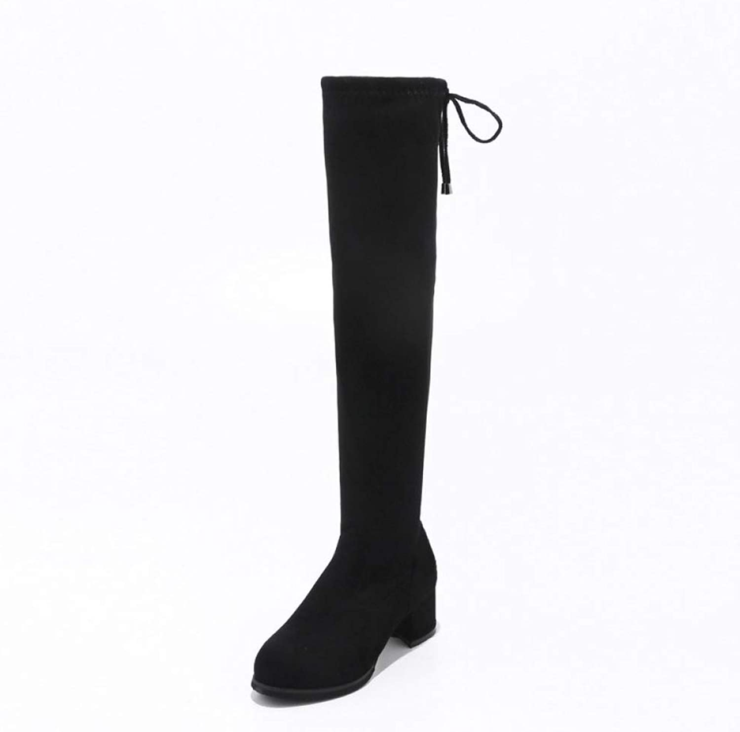 Women Over The Knee Boots 2018 Winter High Heel Thick Heel Boots