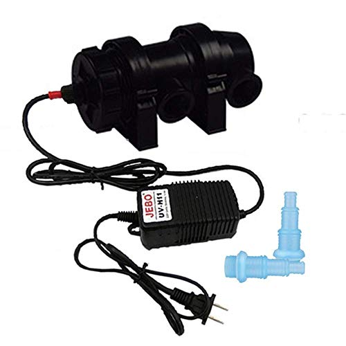 UV Clarificador Filtro,clarificador Agua Estanque Filtro Luz para Limpiar Acuarios de Agua Piscinas Pecera