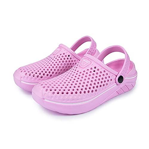 NISHIWOD Ciabatte Infradito Pantofola Sandali Zoccoli da Uomo E da Donna Quick Dry Casual Pantofole da Casa Coppia Scarpe da Giardino Sandali da Spiaggia Muli Pantofola da Bagno 39 Rosa