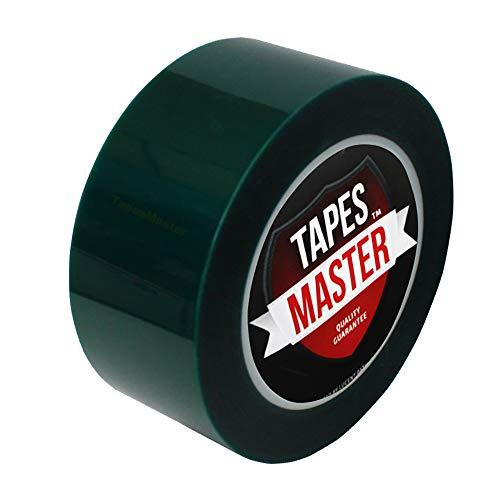 "2"" X 72 Yds - Tapes Master 2 Mil Green Powder Coating Masking Tape - High Temperature"