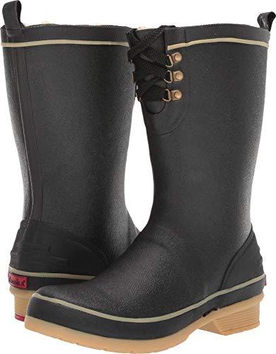 Chooka Whidbey Plush Rain Boot Black 9