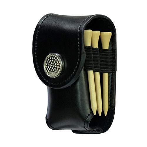 WUQIUYU Tragbarer Golftaschenhalter aus Leder