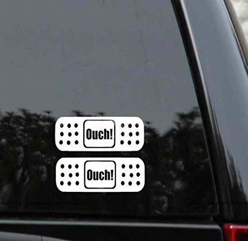 15 * 5Cm 2X Fun Autsch Pflaster Aufkleber Auto Aufkleber für Auto Laptop Fenster Aufkleber