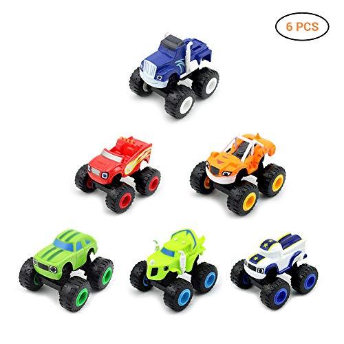 Nickelodeon Blaze The Monster Machines, 6er-Pack Monster Machines Spielzeug Roller Auto - Brecher LKW Fahrzeuge Spielzeug Geschenke für Kinder (Mehrfarbig)