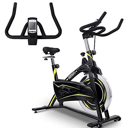 OneTwoFit Cyclette Magnetica da Allenamento Indoor Cyclette Stazionaria regolabile con Display LCD...