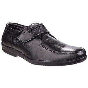Fleet & Foster - Zapatos con Tira Adhesiva Modelo Jim para Hombre (46 EU/Negro)