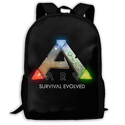 sghshsgh Sac de Marin,Scolaire Collège Sac à Dos,Backpack for Men Women,ARK Survival Evolved Logo Backpacks Hiking Laptop Backpack Travel Large Shoulder Bags for School Shopping Outdoor Sports