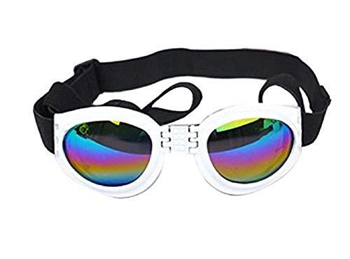 Inception Pro Infinite Gafas de Sol (Blancas) para Perros con protección elástica Ajustable UV400 Plegable