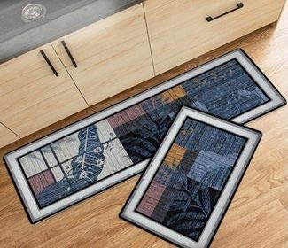Kitchen Runner Rug Non-Slip [2 PCS] Washable Large Rugs Gift Christmas Mat Home Kitchen Cafe