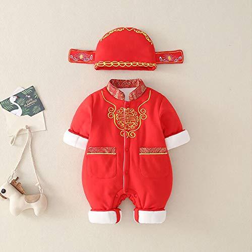 Baby Jumpsuit-Chinese Stijl Kampioen Feestelijke Nieuwjaar uitkleden Service 80cm