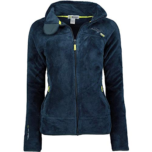 Geographical Norway UPALINE Lady - Suave Cálido Mujeres - Chaqueta Calida Invierno Suave Mujeres Caliente - Pullover Casual Tops Mangas Largas - Manga Larga Suéter Piel Marino S