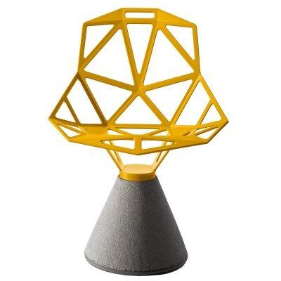Magis Chair One Silla diseño Base de hormigón Asiento Amarillo