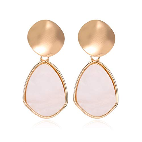 Family Needs Kleine verse Stud Oorbellen Geometrische Liefde oorbellen gepersonaliseerde Hollow Out Metal Oor Chandelier Simple Drop Earrings (Color : Gold drops)
