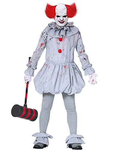 Fiestas Guirca-Kostüm Clown IT für Erwachsene, Größe M, Farbe grau, M, 88369