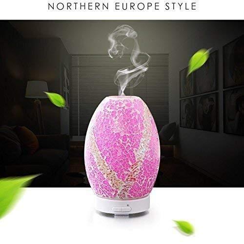 Kann den Geruch Besser filternGenießen Sie die Luft des Waldes. Silent Evaporator Ätherisches Öl, 3D Diffusor Luftbefeuchter Glas Ultraschall Hygrometer Ätherisches Öl Diffusor for Familien, Vereine,