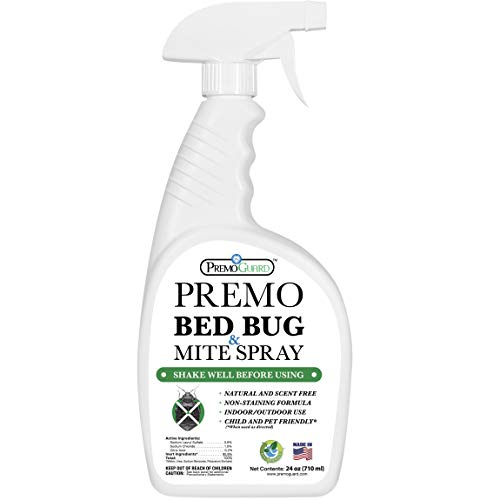 Premo Guard Bed Bug & Mite Spray – 24 oz – Fast Acting – Stain & Scent Free – Child & Pet Friendly – Best Extended Protection – Industry Approved – Satisfaction Guarantee