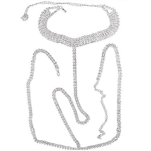 WPCASE Collar Espalda Cadenas corporales para Mujer Cadenas de Oro Volver Collar Cadena del Vientre para la Cintura de Las Mujeres Bastante pequeño Bikini