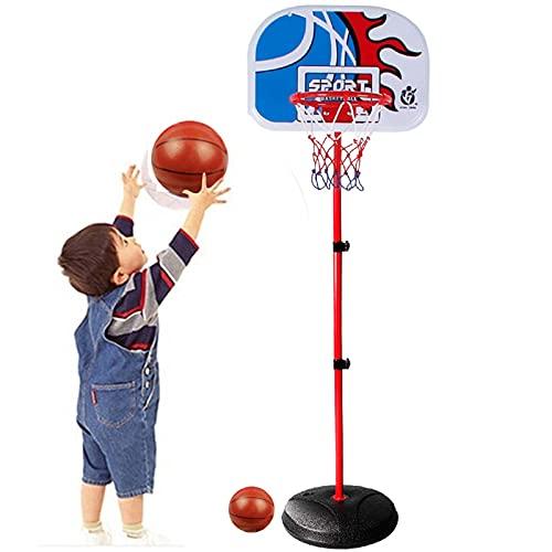 Basketball Hoop Canastas de Baloncesto para Casa, Canasta Baloncesto Infantil Altura Ajustable con Baloncesto y Tablero, Exterior Regalos para Niños