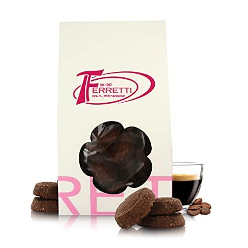 Galletas Artesanales ''Diamantes con Cacao y Café'', Horneadas en Italia, Paquete de 350 Gramos